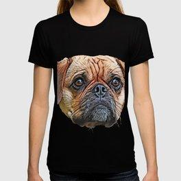 Puggle Beagle Pug designer breeders aim healthy companion T-shirt