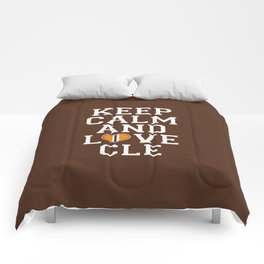 LOVE CLE BROWNS Comforters