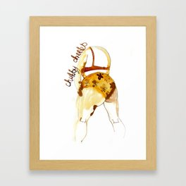 Chubby cheeks Framed Art Print