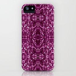 Purple Macro Glitter Pattern iPhone Case