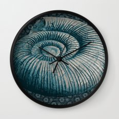 Ammonite on pattern 2201 Wall Clock