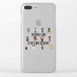 So That's What She Became Clear iPhone Case