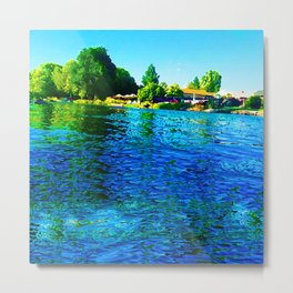 Bright River Flowing Metal Print