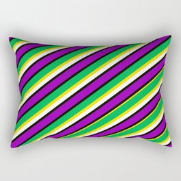TEAM COLORS 1... Mardi  Gras Colors Rectangular Pillow