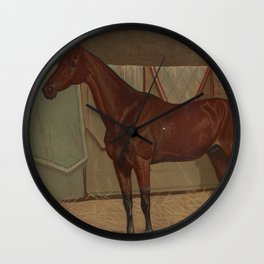 Vintage Race Horse Illustration (1882) Wall Clock