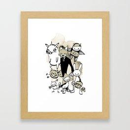 minima - dapper fox Framed Art Print