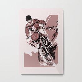 Motocross, the crosser Metal Print
