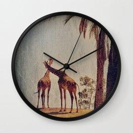 Giraffe Story Wall Clock