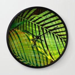 TROPICAL GREENERY LEAVES no1b Wall Clock