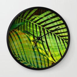 TROPICAL GREENERY LEAVES no1b Wall Clock
