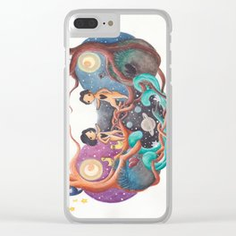 Boy and Girl In A Love World of Their Own Clear iPhone Case