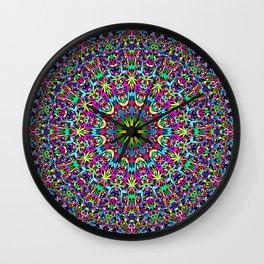 Bohemian Mandala Ornament Wall Clock