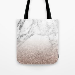Marble sparkle rose gold Tote Bag