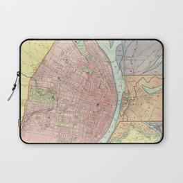 Vintage Map of St Louis MO (1897) Laptop Sleeve