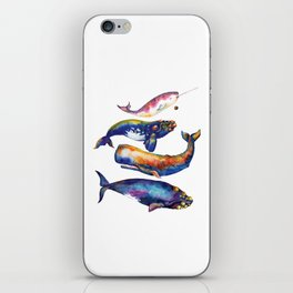 Whale Pyramid #4 - Watercolor Whales iPhone Skin