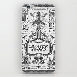 Legend of Zelda Vintage Master Sword Advertisement iPhone Skin