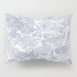 Illustrated map of Berlin-Mitte. Ink pen design Pillow Sham