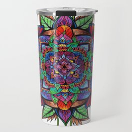 Flower Buds Mandala Travel Mug
