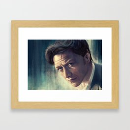 The Coffee Stain - James McAvoy Framed Art Print
