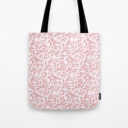 Vintage grunge blush pink white bohemian floral Tote Bag