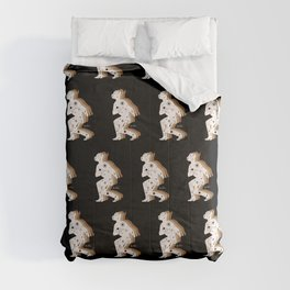 Space Cowboy - Black, white & camel Comforters