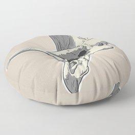 Triceraskull Floor Pillow