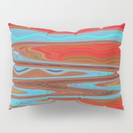 Abstract Retro Lava Water Deep Earth Landscape Pillow Sham
