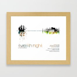 """Twelfth Night"" poster Framed Art Print"