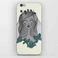 emily rickard iPhone & iPod Skins featuring Emily  by Bittersweet
