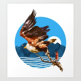 Eagles Fly Art Print