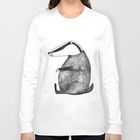 badger Long Sleeve T-shirts featuring Badger by Emma Jansson
