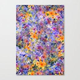 Yellow Primrose Garden Canvas Print