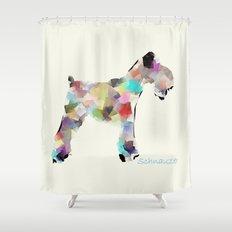Schnauzer modern Shower Curtain