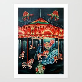 Her Nightlight Art Print