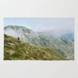Hiker in the Pyrénées Rug