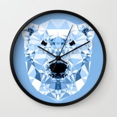 Diamond Polar Bear Wall Clock