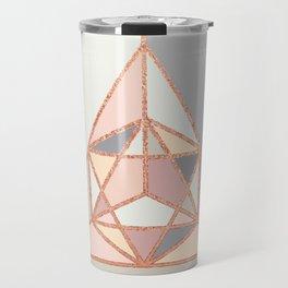 Rose Gold Geometry Travel Mug