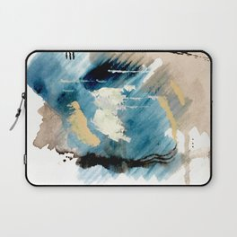 You are an Ocean - abstract India Ink & Acrylic in blue, gray, brown, black and white Laptop Sleeve