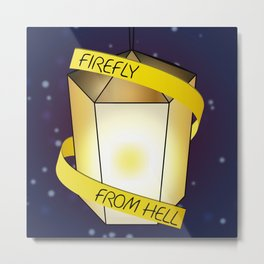 Firefly from Hell Metal Print
