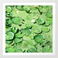 monet Art Prints featuring Almost Monet by BRITADESIGNS