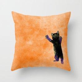 Playful Kitty Throw Pillow