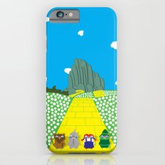 Pengwins that are following a brick road that is yellow Slim Case iPhone 6s