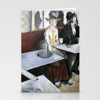 degas Stationery Cards featuring Degas' Goat Drinking Absinthe  by MollyK