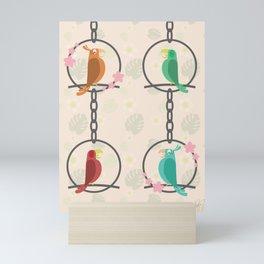 Tiki Birds Light Mini Art Print