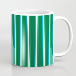 Between the Trees - Forest Green, Green & Blue #811 Coffee Mug