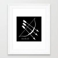 robin hood Framed Art Prints featuring Robin Hood by Maritxu