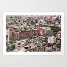 Lower East Side Skyline #2 Art Print