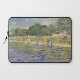 Bank of the Seine by Vincent van Gogh Laptop Sleeve