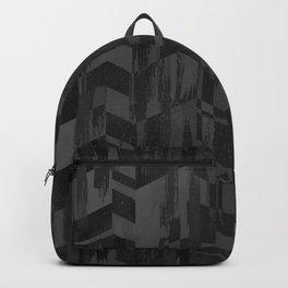 Black Geometric Brush Backpack