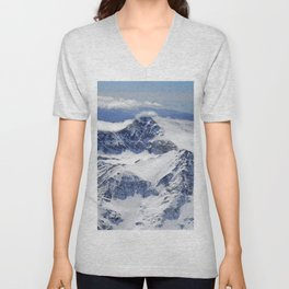 """Big mountains"". Aerial photography Unisex V-Neck"
